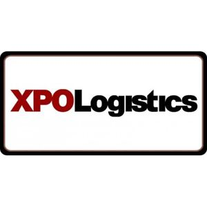 Details about xpo logistics logo on white background license plate made in  usa.