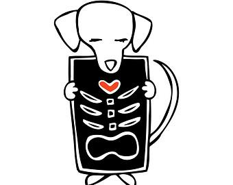 Dog x ray clipart.