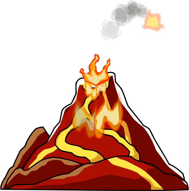 Volcano Png.