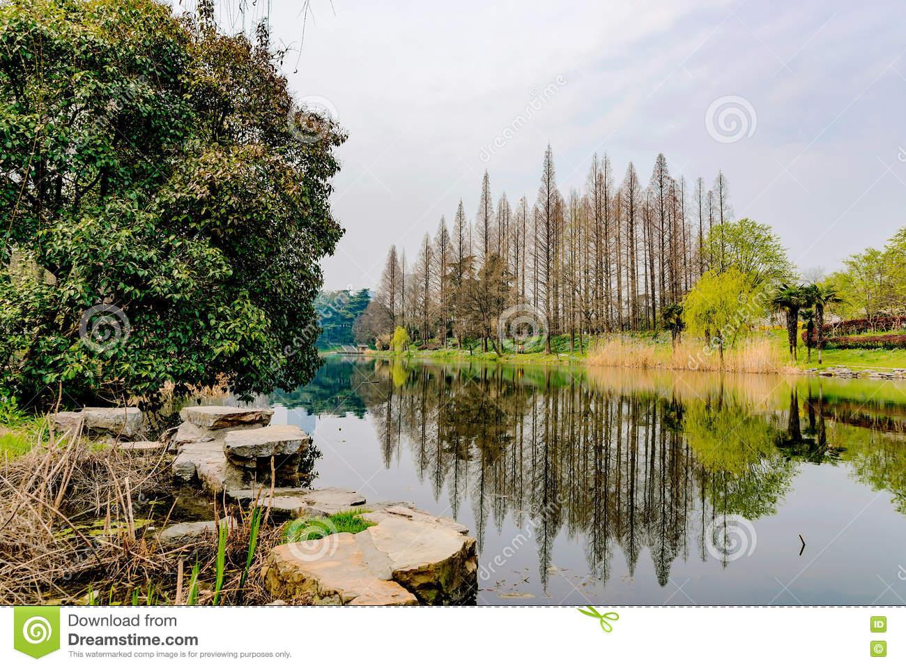 Nanjing Xuanwu Lake Stock Photo.