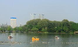 Xuanwu Lake In Nanjing Stock Photo.