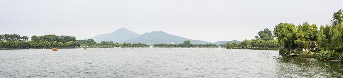 Purple Mountain And Xuanwu Lake In Nanjing, China Stock Image.