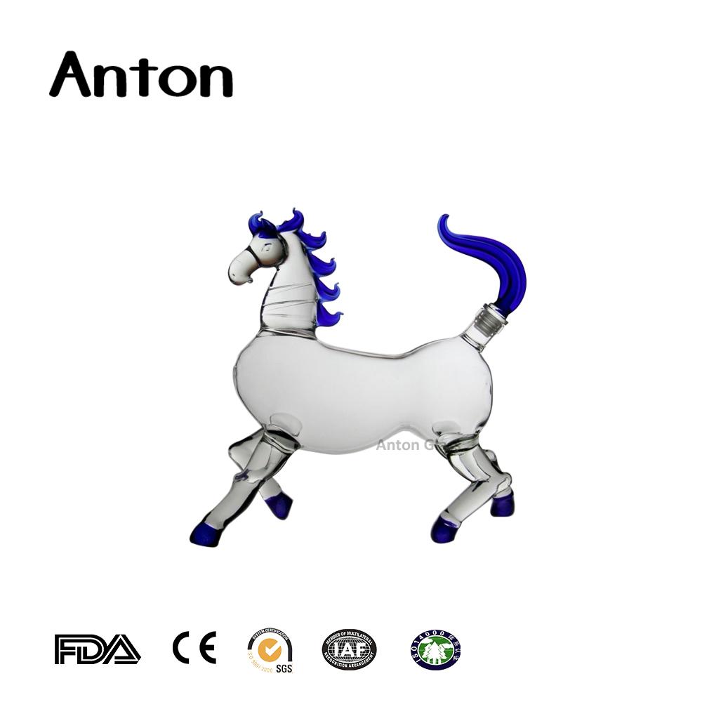 500ml wholesale Chinese Zodiac horse shape craft and wine glass.