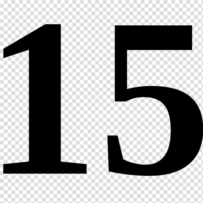 Number , xv años transparent background PNG clipart.
