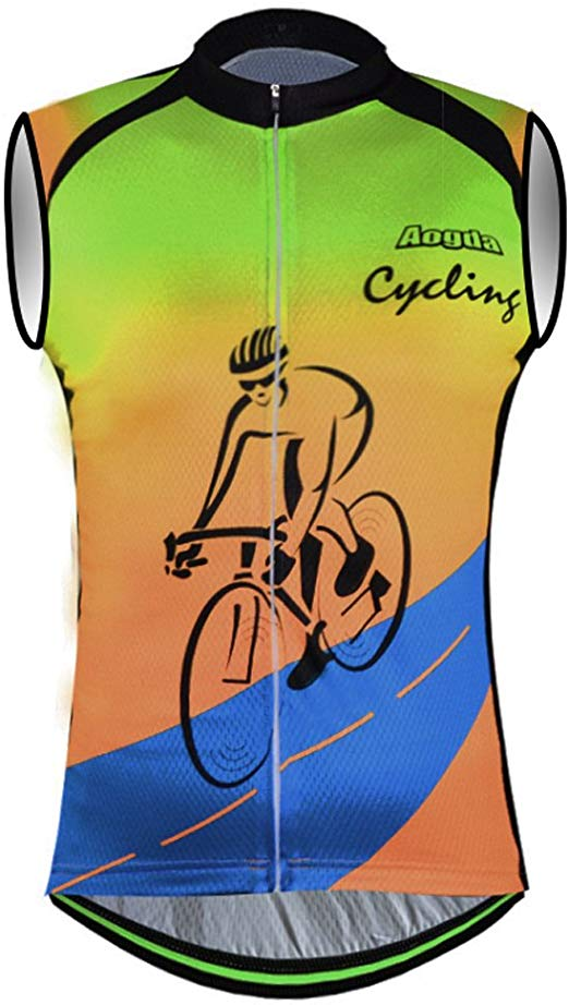 Amazon.com : Aogda Sleeveless Cycling Jerseys Men Bike Shirt.