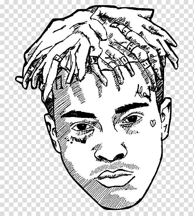 XXXTentacion illustration, XXXTentacion Drawing Rapper.