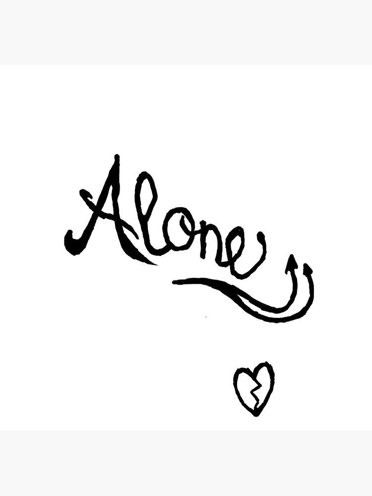 XXXTentacion Alone Tattoo.
