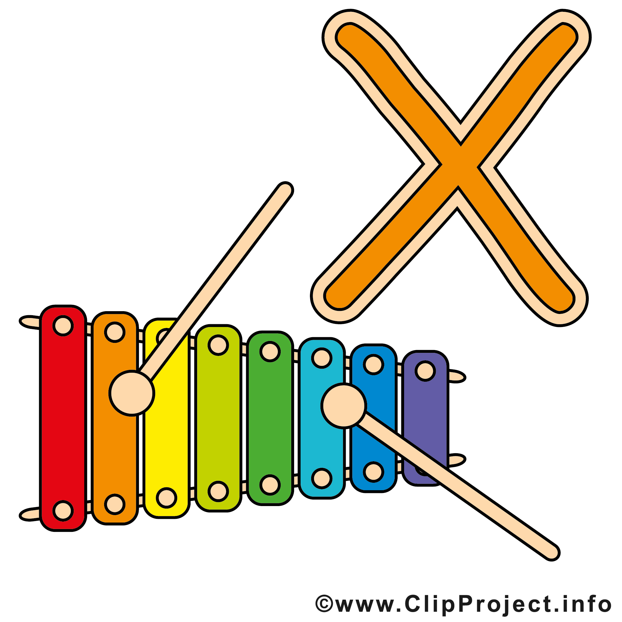 Xylophone Clipart Page 1.