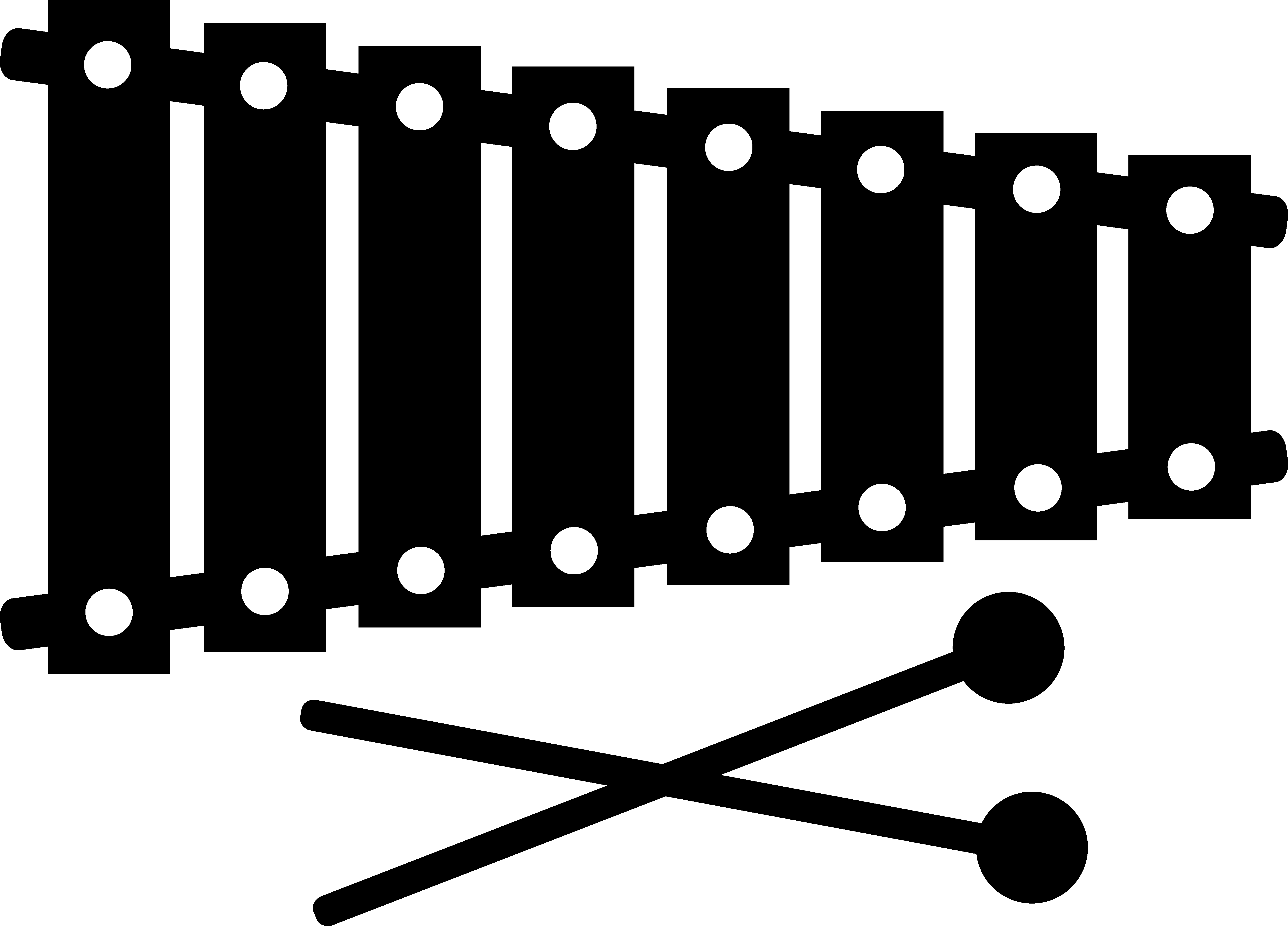 Xylophone Drawing Instrument Diagram Of Third Generation.