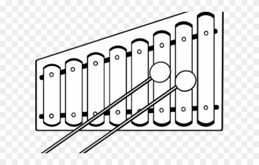 Xylophone Clipart Black And White.