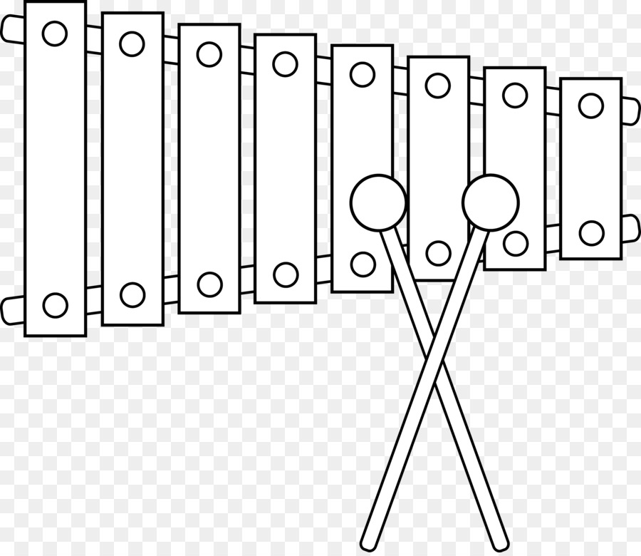 Black And White Clipart Of Xylophone.