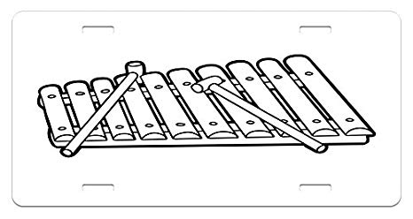 Xylophone clipart black and white, Xylophone black and white.