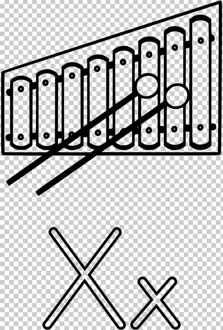 Xylophone Black And White PNG, Clipart, Angle, Area, Black.