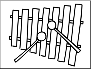 Xylophone clipart black and white 1 » Clipart Station.