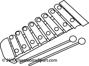 464 Xylophone free clipart.