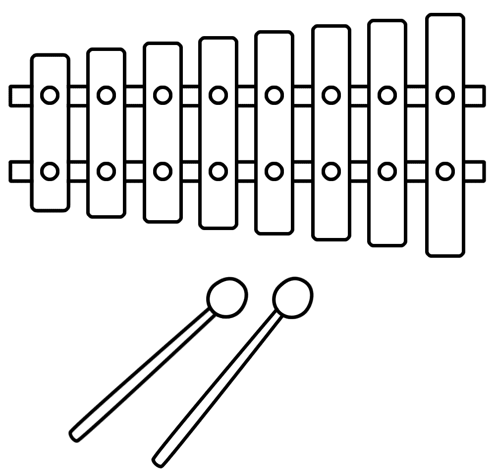 Free Xylophone Clipart Black And White, Download Free Clip.