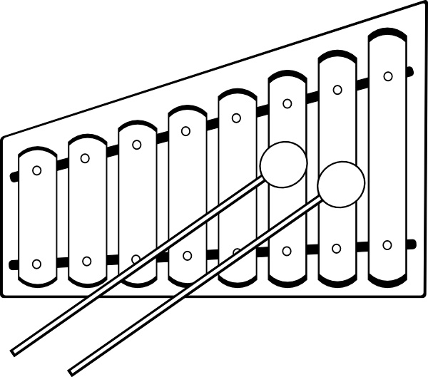 Xylophone clip art Free vector in Open office drawing svg ( .svg.