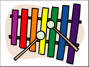 Clip Art: Basic Words: Xylophone Color Unlabeled I abcteach.com.