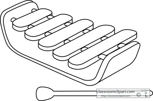 Xylophone Outline Pictures to Pin on Pinterest.