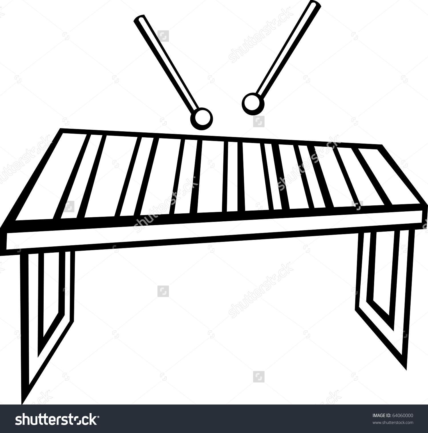 Xylophone Vibraphone Marimba Musical Instrument Stock Illustration.