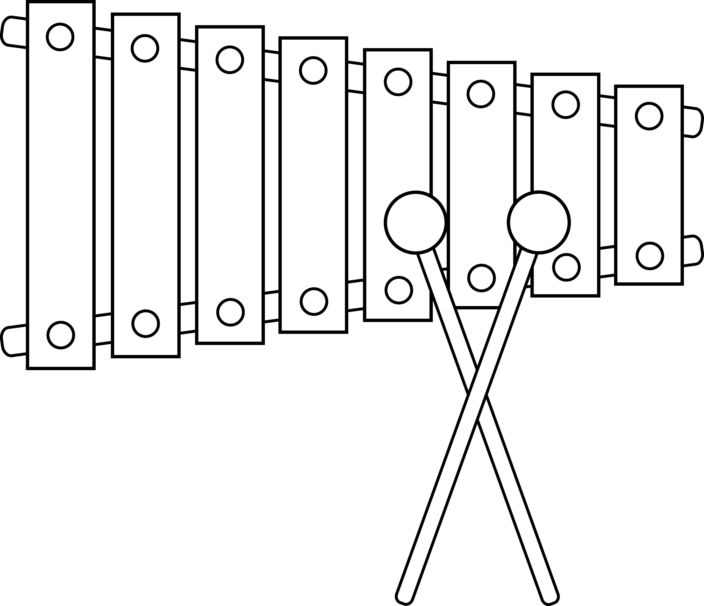 Xylophone Line Art.