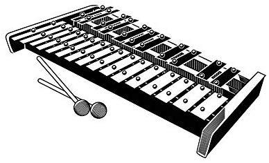 Xylophone Marimba Bell Glockenspiel Musical Instrument.