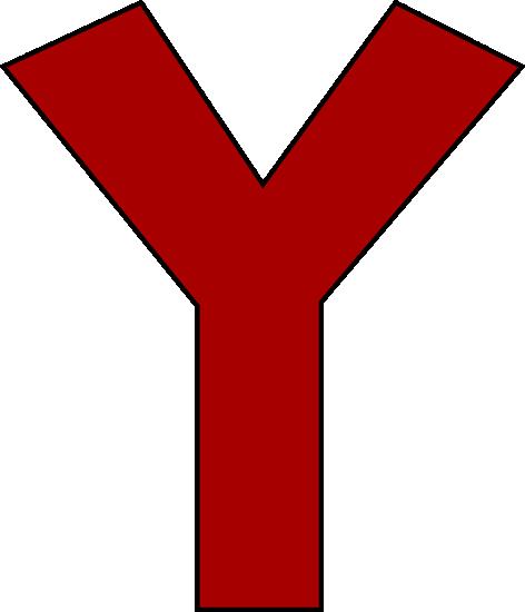 Red Letter Y Clip Art.