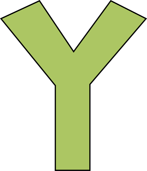Green Letter Y Clip Art.