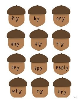 Ending Y Vowel Sound Word Sort (long i and long e).