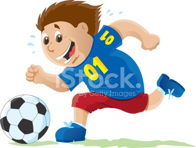 Kid playing Soccer Clipart Image.