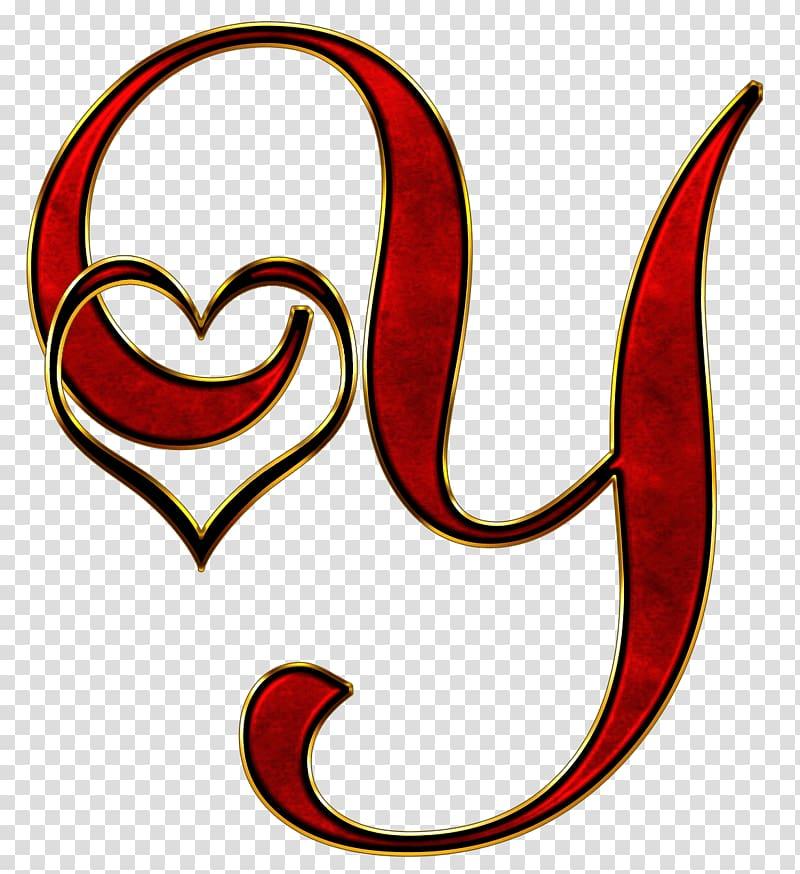 Red y , Valentine Capital Letter Y transparent background.