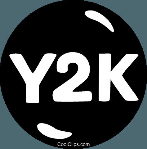 Y2K button Royalty Free Vector Clip Art illustration.