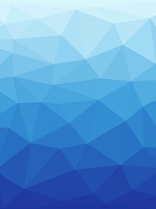 Blue Gradient Low Polygon Irregular Geometric Abstract.