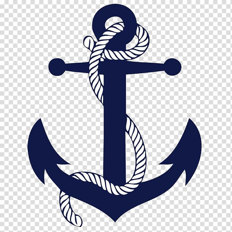 Blue and white anchor graphic, Anchor Ship Boat Drawing.