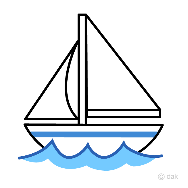 Cute Yacht Clipart Free Picture|Illustoon.