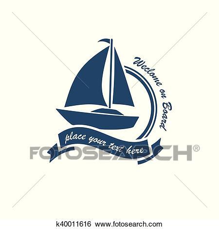 Yacht club logo Clip Art.