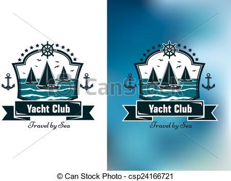 Yacht club emblems.