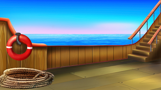 Cruise Ship Deck Clip Art, Vector Images & Illustrations.
