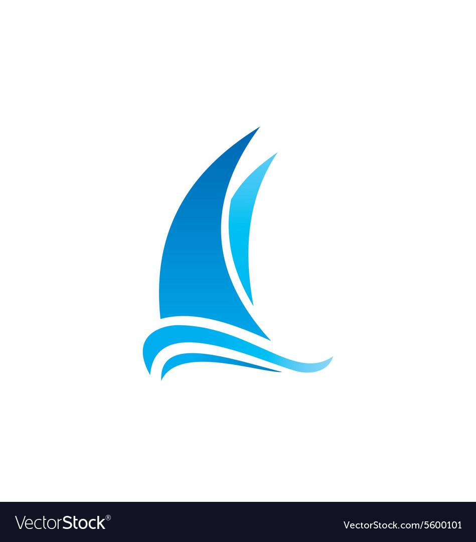 Yacht boat marine sailing logo.