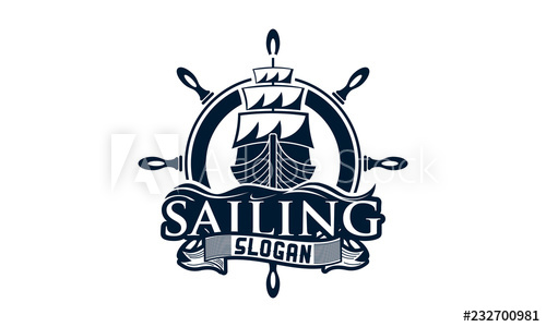 Sailing Yacht Logo design template,.