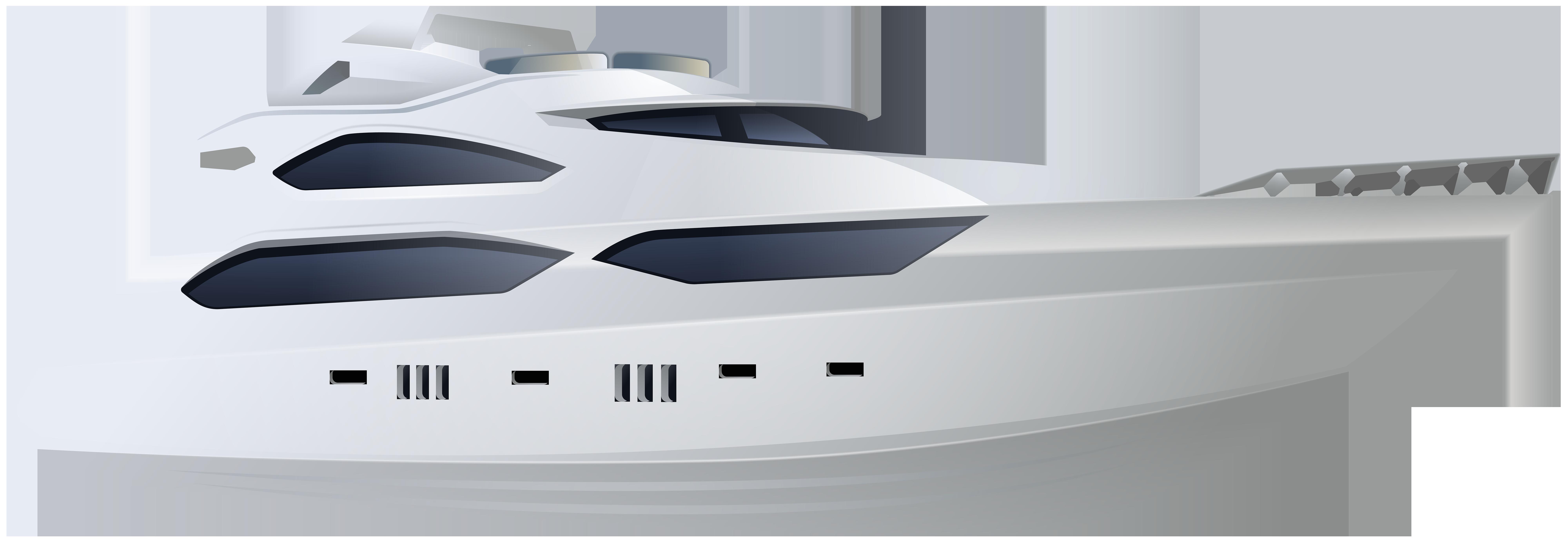 Yacht PNG Clip Art Image.