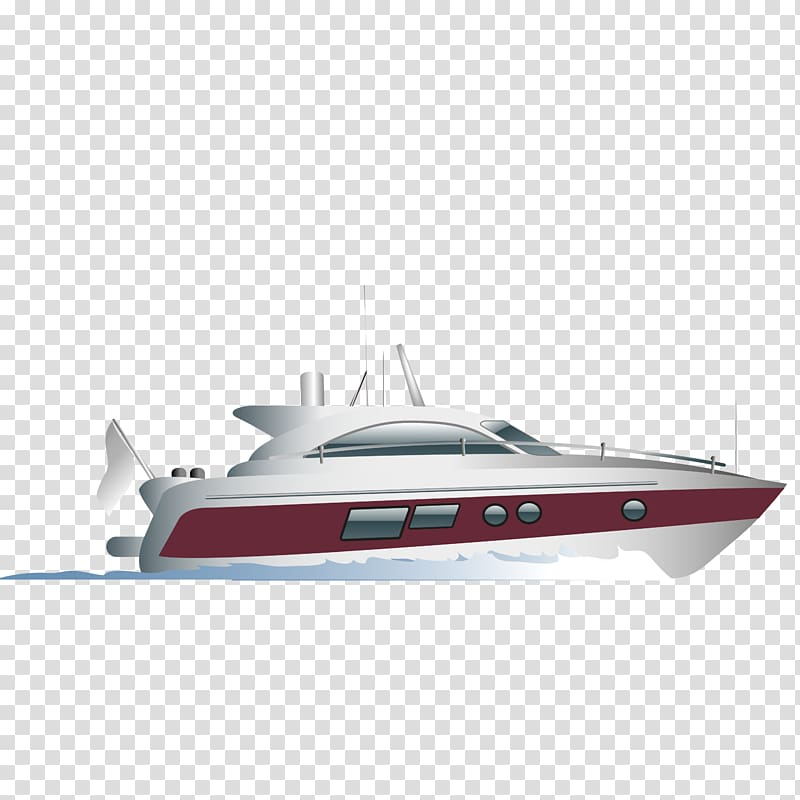 Luxury yacht Ship, Ship material transparent background PNG.