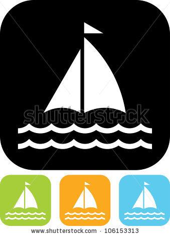 Black Silhouettes Yachts Sailboat Vector Stock Vector 357721616.