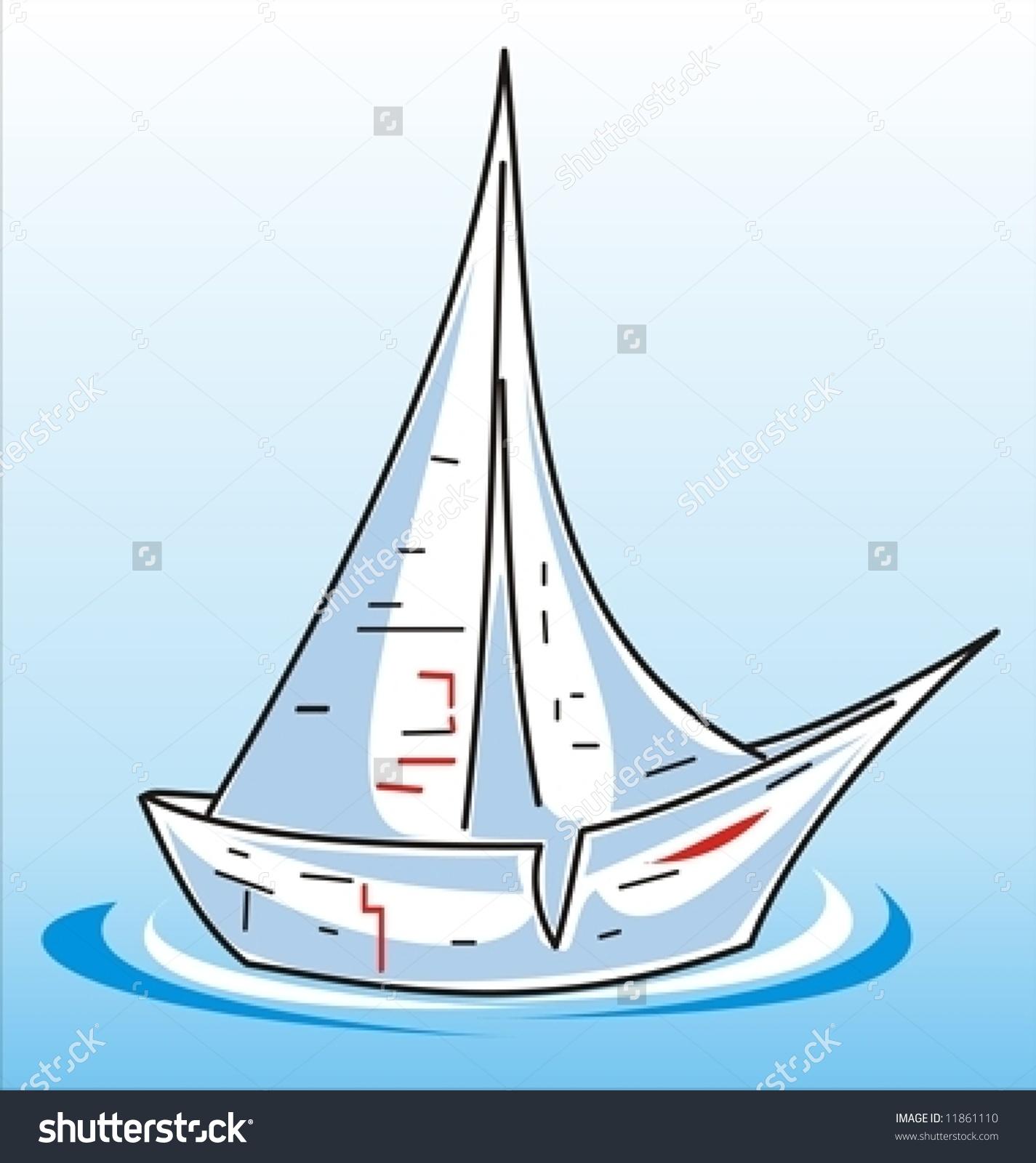 Empty Paper Boat Vector Stock Vector 11861110.
