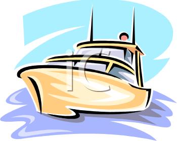 Pleasure Boat on the Ocean.