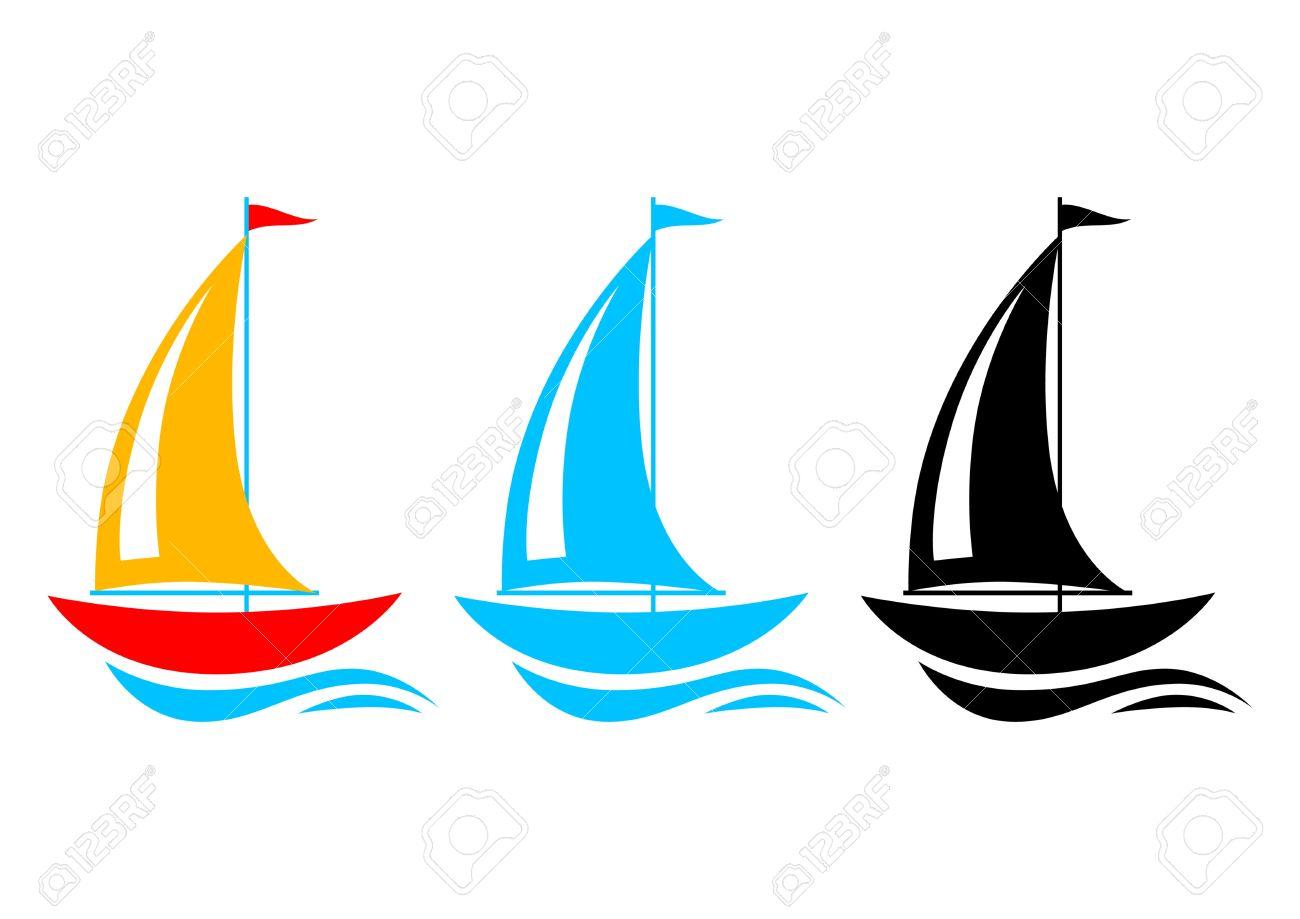 Sailboat Icons Royalty Free Cliparts, Vectors, And Stock.