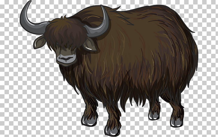 Domestic yak , yak PNG clipart.