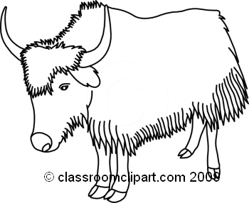 Yak clipart black and white, Yak black and white Transparent.