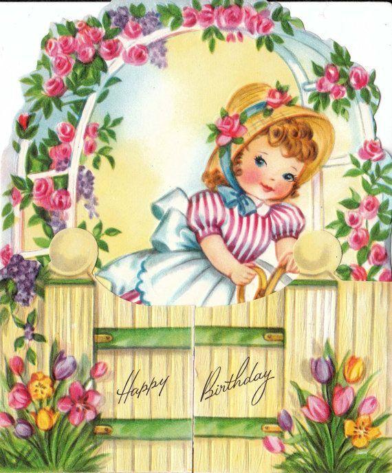 Retro Birthday Card.
