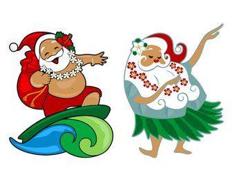 hawaiian christmas clip art.